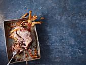 Pulled Pork auf Ofenblech