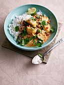 Potato and cashew nut Thai curry