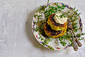 Thai fab cakes with coriander lime mayonnaise