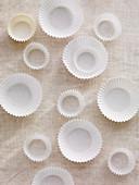 Papierförmchen für Muffins und Pralinen