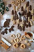 Figürliche Weihnachtsplätzchen