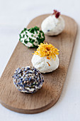 Various cheese balls