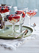 Elderflower and prosecco berry jellies
