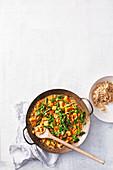 Vegan chickpea satay curry
