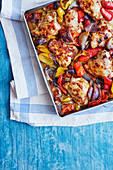 Chicken tray bake with bell pepper