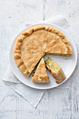 Courgette rice pie