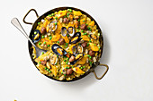 Mussel paella