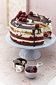 Cherry cream yoghurt naked cake