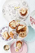 Karamellbonbon-Bananen-Muffins