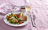 Chicken rolls with fennel salad
