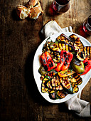 Gegrillte Gemüse-Antipasti
