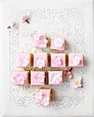 Almond cake squares