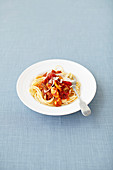 Chicken and pepper spaghetti
