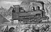 Locomotive of Mont Cenis Mountain Railway