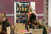 Vending machine in a student cafeteria