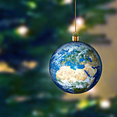 Earth bauble, illustration