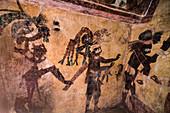 Frescos, Temple of the Murals, Bonampak, Mexico