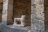Jaguar throne, Temple of the Jaguar, Chichen Itza, Mexico