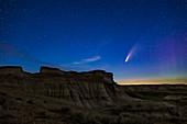Comet NEOWISE over Dinosaur Park, Alberta, Canada