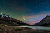 Comet NEOWISE over the Columbia Icefield, Canada