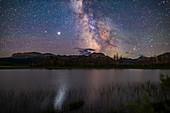 Milky Way over Maskinonge Pond, Alberta, Canada