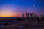 Saturn, Mars and jupiter at dawn
