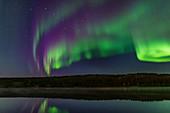 Aurora at twilight