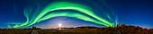 Aurora over Rotary Park, Yellowknife, Canada