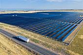 Solar farm, Colorado, USA