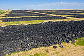 Tyre recycling centre storage