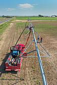 Center pivot Irrigation isntallation