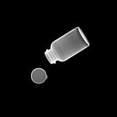 Pill bottle, X-ray