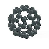 Buckminsterfullerene molecule, illustration
