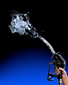 Wasting fuel, conceptual image