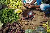 Frisches Gemüse auf Markt in Sri Lanka