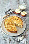 Gedeckter Apfelkuchen mit Zimt (vegan)