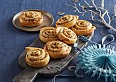 Spirals (rolls) with pork crackling and sauerkraut