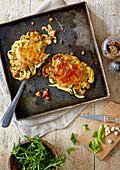 Roasted rarebit cauliflower steak recipe
