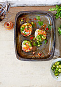 Tex-Mex Baked Eggs mit Pilzen