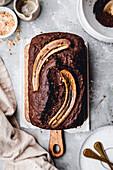 Chocolate Banana Bread, vegan