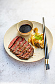 Teriyaki rump steak with mushrooms (Japan)