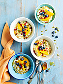 Overnight Buckwheat Almond and Orange Porridge