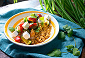 Cous Cous with Vegetables and Feta Cheese - Step by step