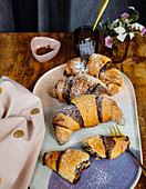 Potato croissants with chocolate