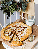 Pear tart with cardamom cream