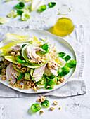 Chicken, Quinoa and Witlof Salad