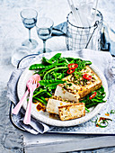Spice-Marinated Tofu with Chinese Broccoli