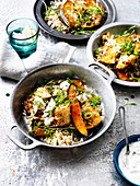 Spicy Pumpkin and Cauliflower with Rice and Yoghurt