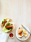 Jump For Joy - Scotch eggs with tarragon mayonnaise