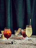 Spritz Veneziano und Thymian Gin Fizz
